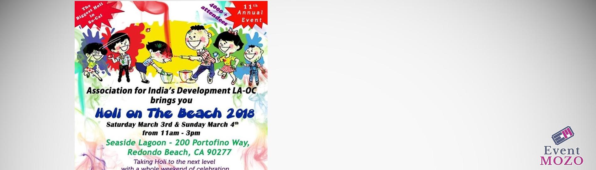 EventMozo Holi on the Beach 2018 (Festival Of Colors LA-OC)