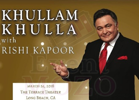 EventMozo Khullam Khulla With Rishi Kapoor - Los Angeles