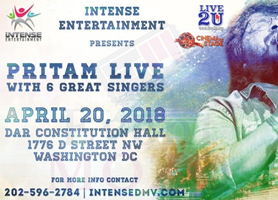 eventmozo Pritam Live in Concert - Washington, D.C