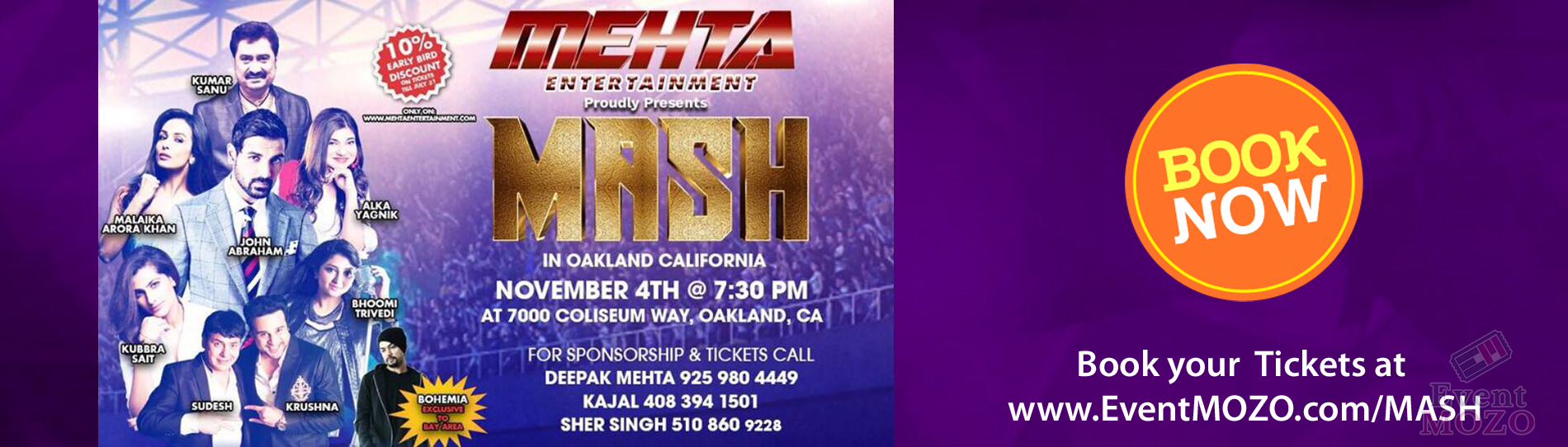 EventMozo Mehta Presents Bollywood MASH