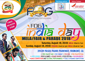 eventmozo FOG INDIA DAY MELA/FAIR & PARADE 2018