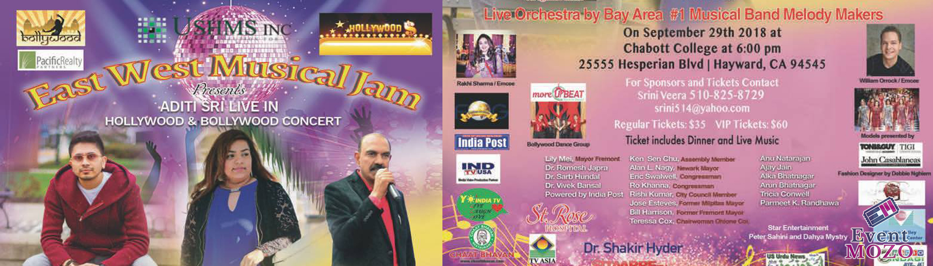 East West Musical Jam Presents  Aditi Sri Hollywood and Bollywood Concert