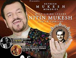 Nitin Mukesh Live in Concert: Yaadon Ki Mehfil Reloaded, Bay Area