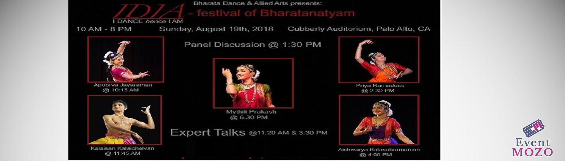 EventMozo IDIA: I DANCE hence I AM - a festival of Bharatanatyam