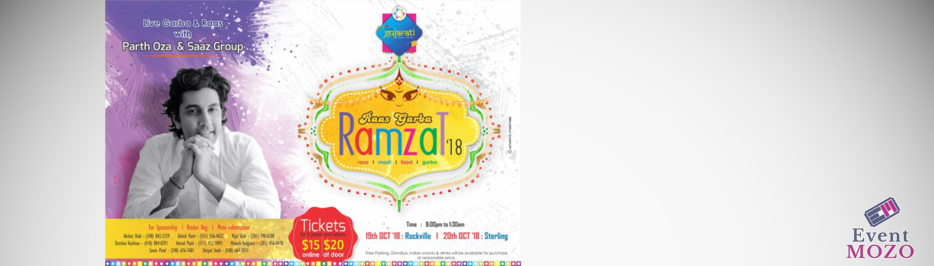 EventMozo MD - Raas Garba Ramzat - Parth Oza and Saaz Group