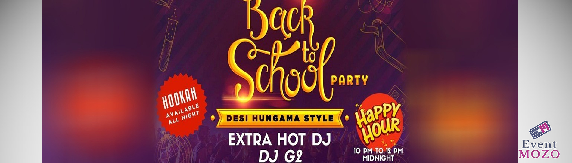 EventMozo Back To School Bollywood Party with Extra Hot DJ