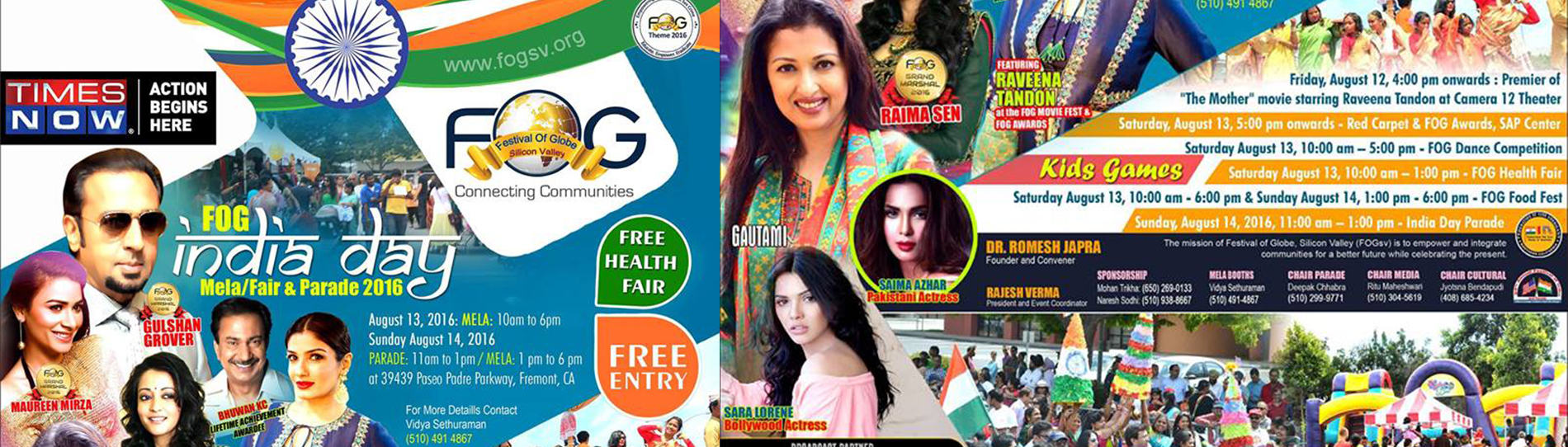FOG India Day Fair and Grand Parade - FREE entry