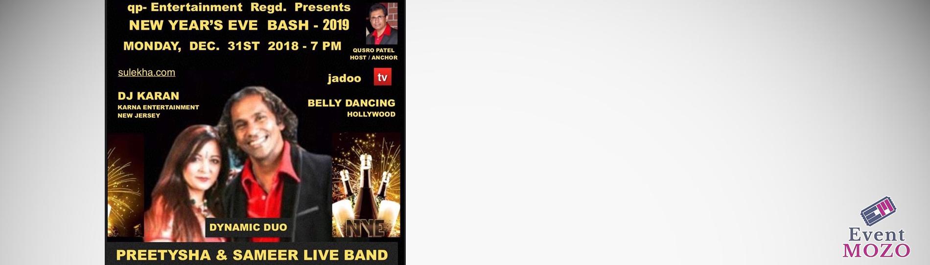 EventMozo QUSRO PATEL Presents New Years Eve 2019 with Preetysha and Sameer