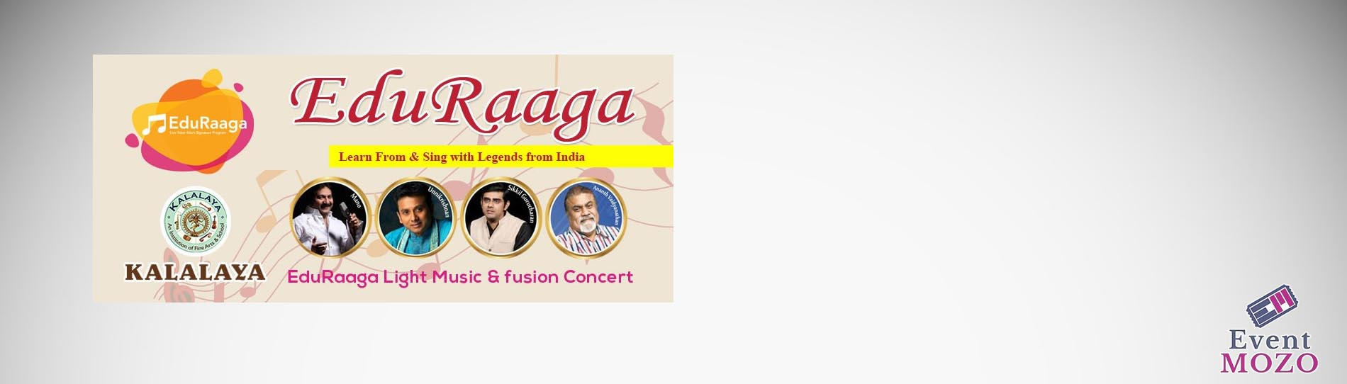 EventMozo Light Music and Fusion Concert - Mano, Unnikrishnan & Sikk....