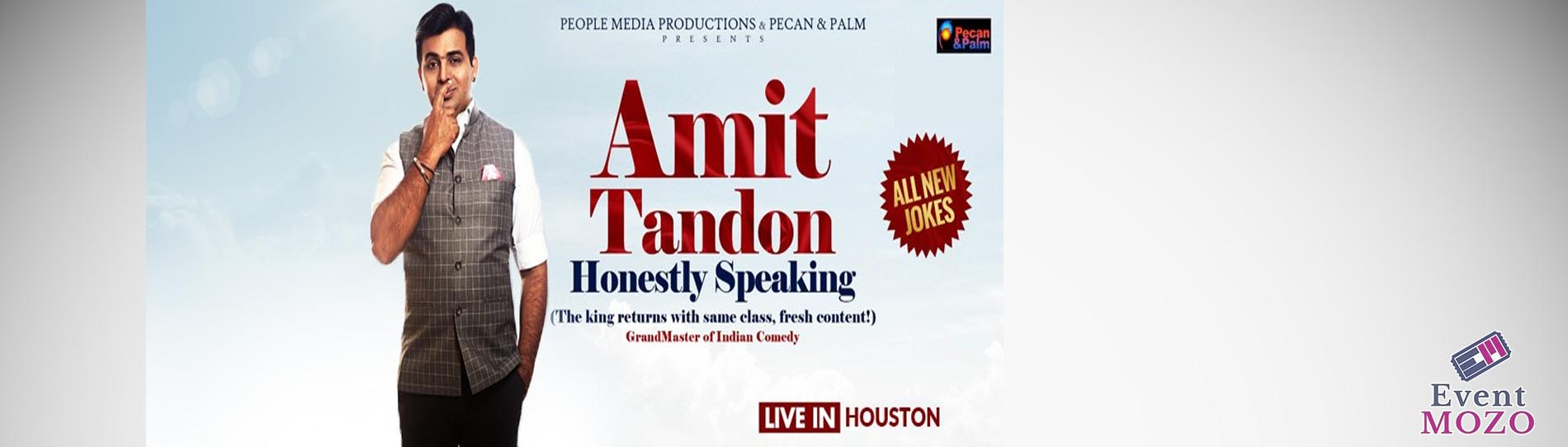 EventMozo Honestly Speaking - Amit Tandon Stand-Up Comedy: Live in Houston