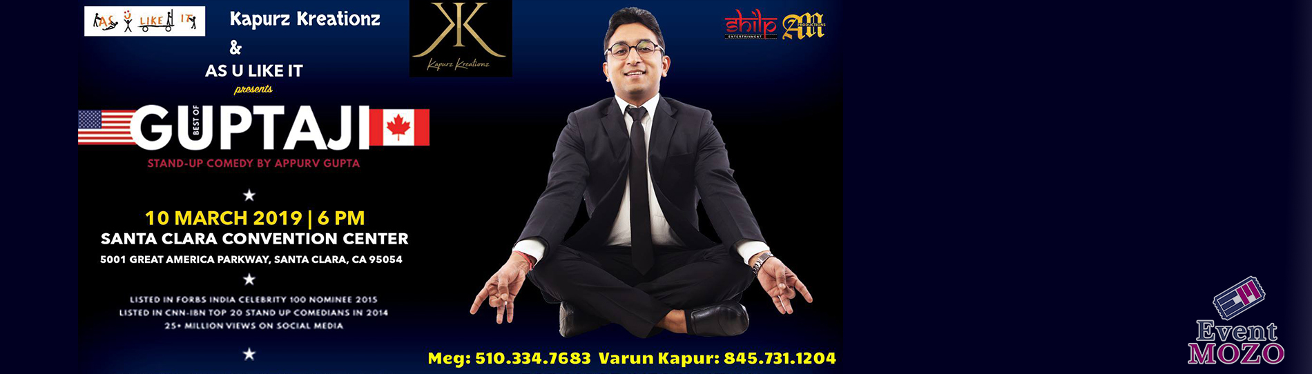EventMozo Bay Area: Best of GuptaJi - Stand Up by Appurv Gupta