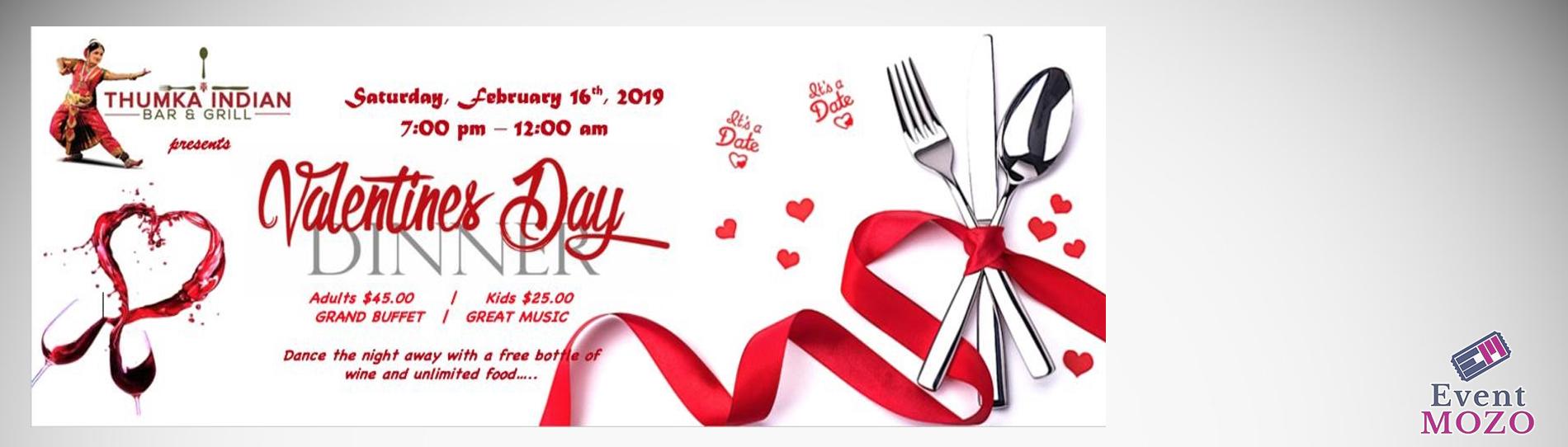 EventMozo Valentine's Day Dinner - Thumka Indian Bar & Grill