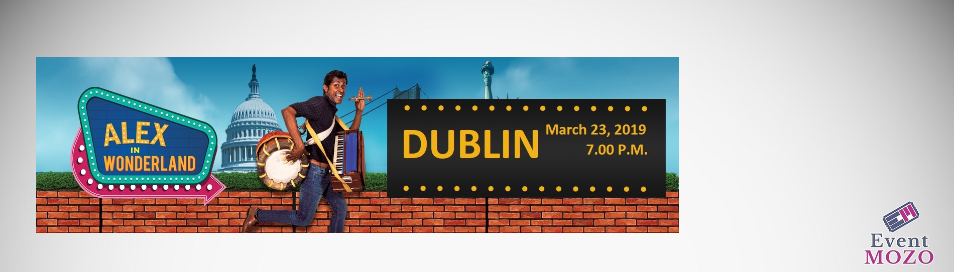 EventMozo Dublin , SFO -Alex in Wonderland(Musical Stand-up Comedy)