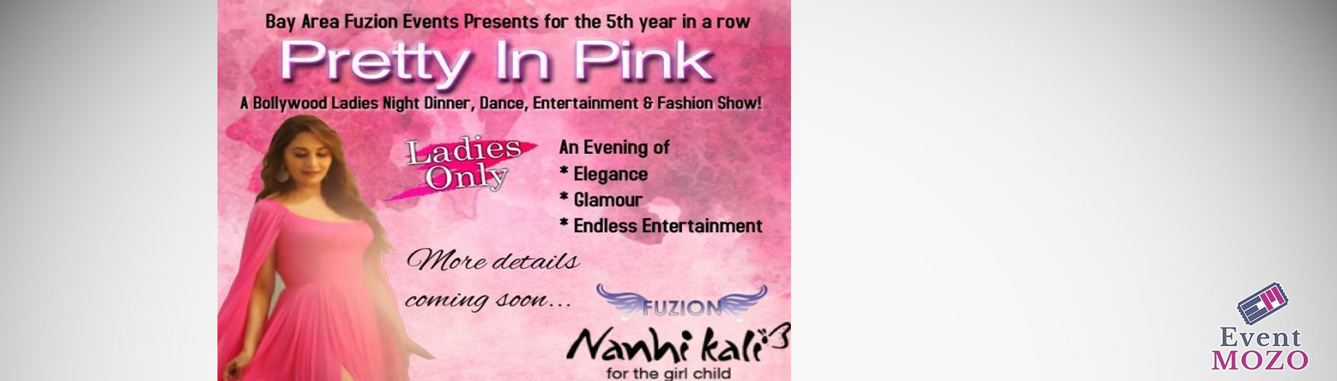 EventMozo Pretty In Pink-A Bollywood Ladies Night Dinner, Dance, Fas....