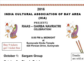 eventmozo ICA - Navratri 2016 - Sargam Group