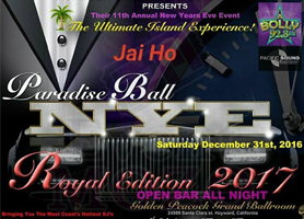 Paradise Ball NYE Party 2017 Open Bar All Night!