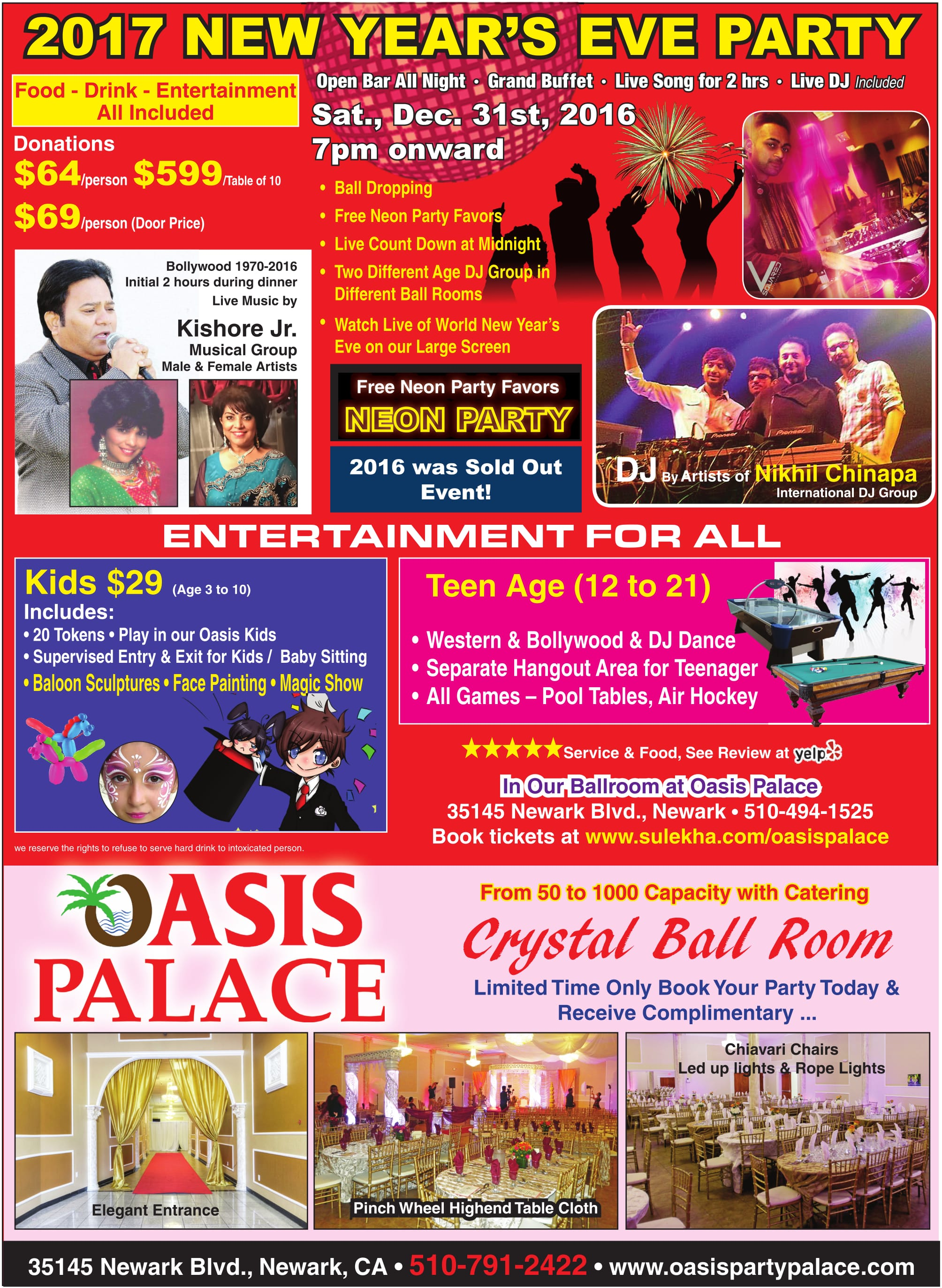 Oasis Palace - Desi New Year's Eve Neon Party 2017