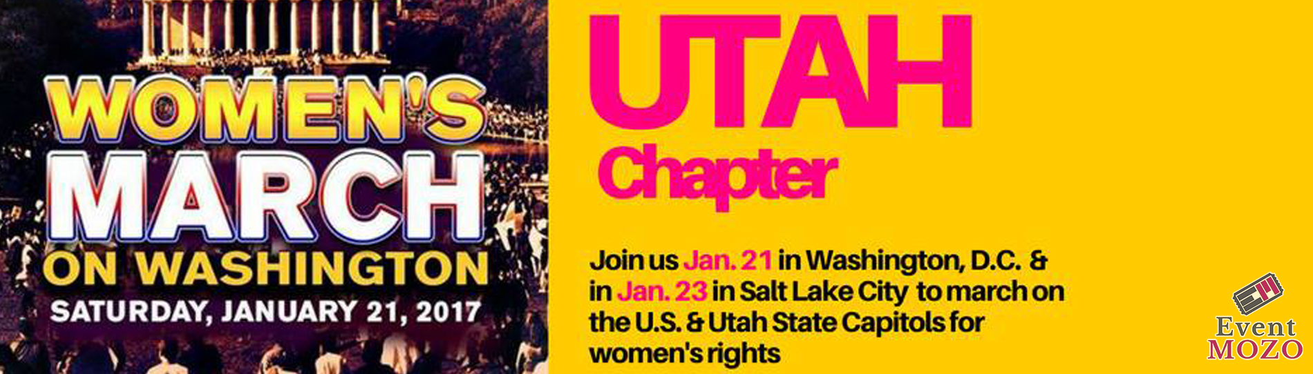 EventMozo Women's March on Washington - Utah Chapter