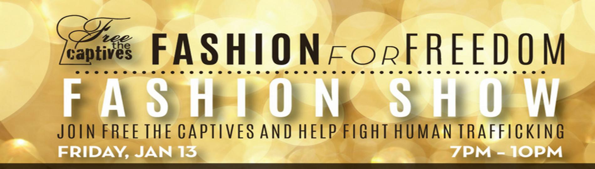 EventMozo Free the Captives' Fashion Show: Fashion for Freedom