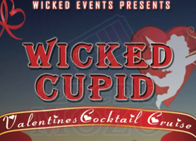WICKED CUPID: Valentine's Sunset Cruise (Open Bar Party)