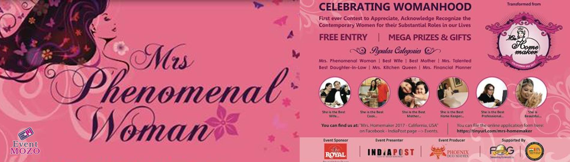 EventMozo Mrs. Phenomenal 2017 - Free Entry
