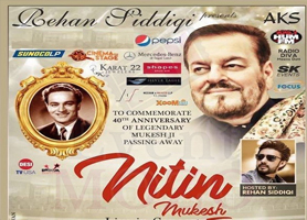 eventmozo Nitin Mukesh Live in Concert - Houston
