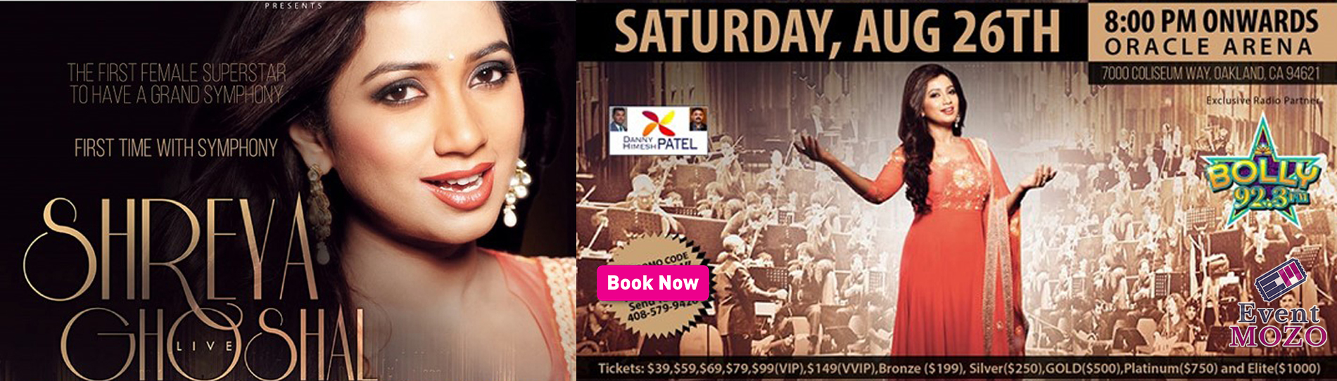 EventMozo Shreya Ghoshal Live In Concert with Grand Symphony - Bay Area