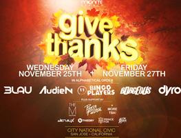 GIVE THANKS: Nov 25 + Nov 27