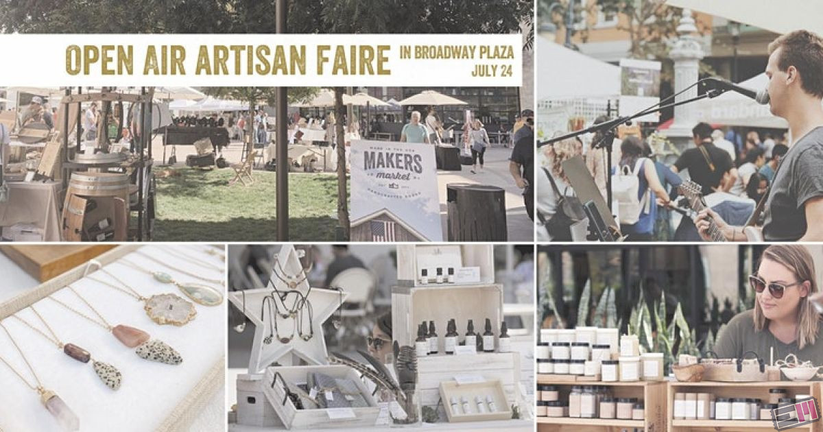 Open Air Artisan Faire  Makers Market - Broadway Plaza